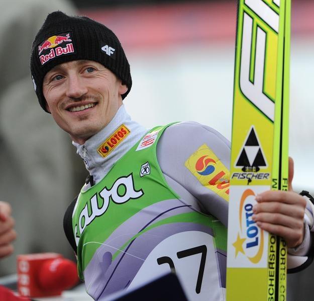 Adam Małysz po konkursie indywidualnym Pucharu Świata w Planicy fot: Grzegorz Momot /PAP