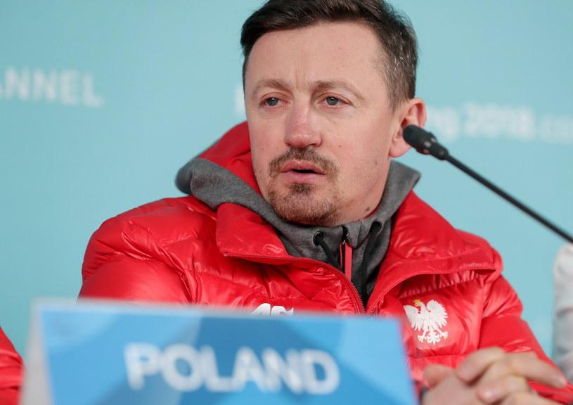 Adam Małysz podczas konferencji prasowej / Grzegorz Momot    /PAP