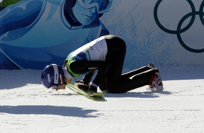 Adam Małysz podczas swoich ostatnich igrzysk olimpijskich /Jerzy Kleszcz /Newspix