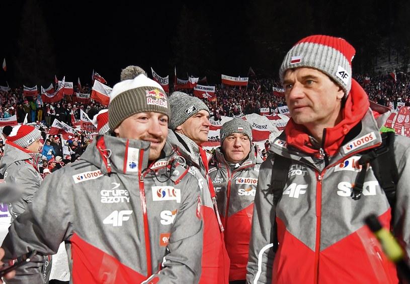 Adam Małysz (z lewej) i Stefan Horngacher /Marek Lasyk/REPORTER  /East News