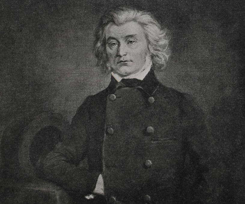 Adam Mickiewicz w/g portretu olejnego Aleksandra Kamińskiego w Paryżu w 1849 roku /reprodukcja Piotr Mecik /Agencja FORUM