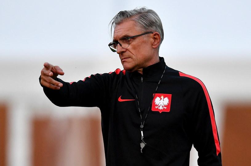 Adam Nawałka podczas treningu w Soczi /Bartłomiej  Zborowski /PAP