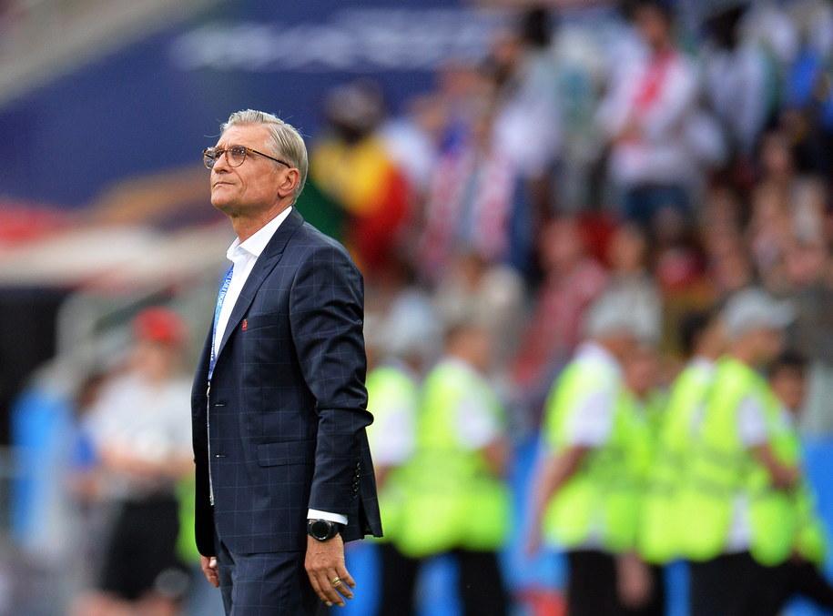 Adam Nawałka w czasie meczu z Senegalem /PETER POWELL   /PAP/EPA