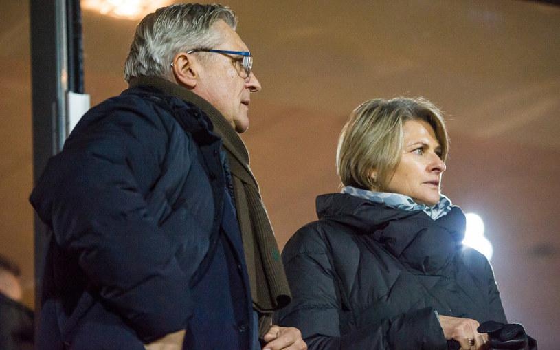 Adam Nawałka z żoną Katarzyną /Tadeusz Koniarz /Reporter
