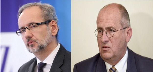 Adam Niedzielski i Zbigniew Rau /Leszek Szymański/ Marek Kliński /PAP