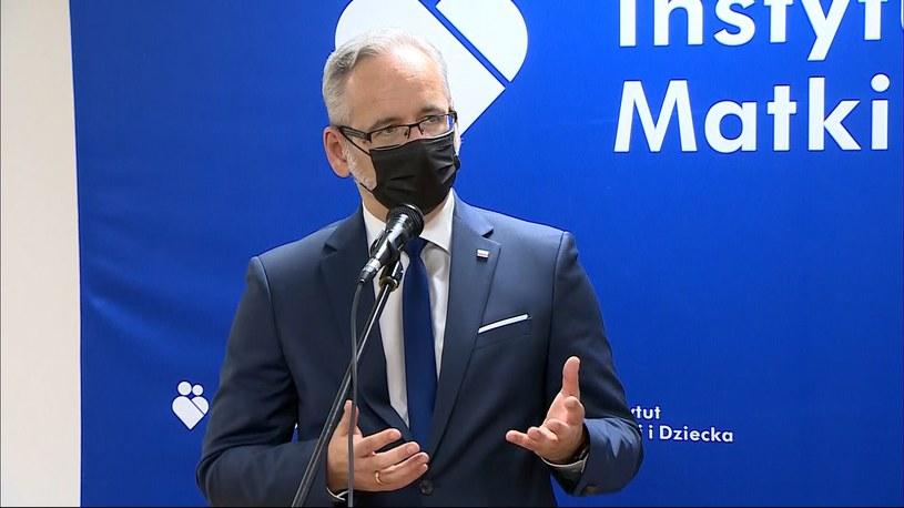 Adam Niedzielski podczas konferencji prasowej /Polsat News /Polsat News
