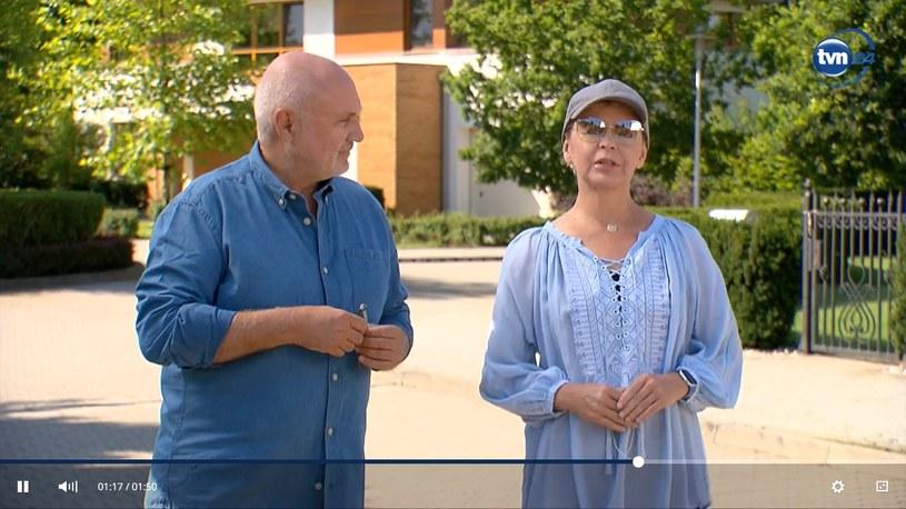 Adam Pieczyński i Justyna Pochanke /Screen:tvn24.pl/ /materiał zewnętrzny