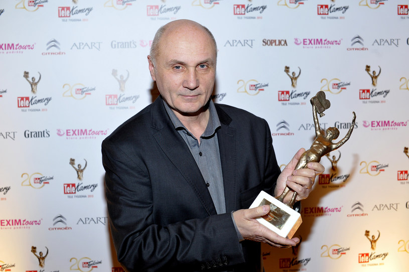 Adam Pieczyński z Telekamerą Tele Tygodnia (2013) /AKPA