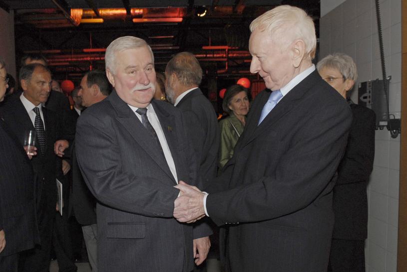 Adam Słodowy z Lechem Wałęsą /Niemiec /AKPA