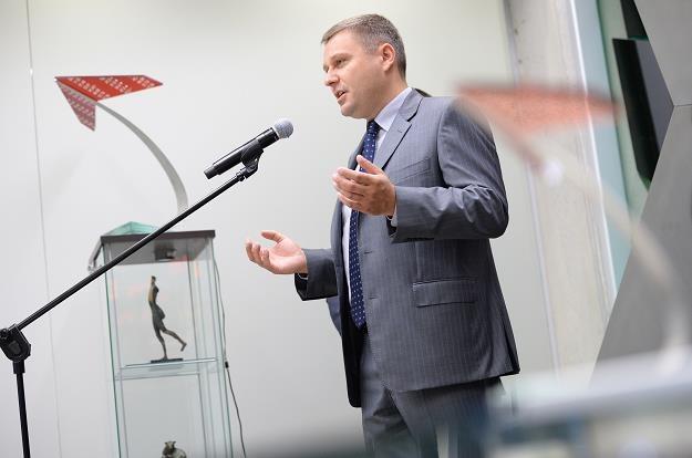 Adam Tychmanowicz, prezes Neptisu, podczas debiutu na NewConnect /PAP