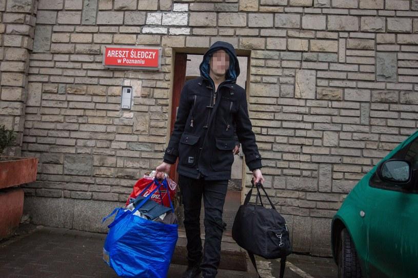 Adam Z. wychodzi na wolność /Jakub Walasek /Reporter