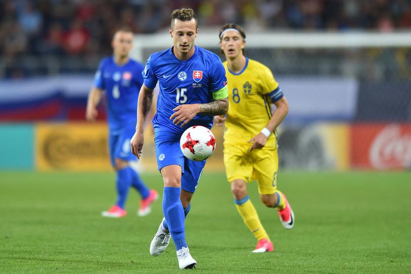 Adam Zrelak w meczu Słowacja-Szwecja na Mistrzostwach Europy U-21 /Lukasz Laskowski / PressFocus /Newspix
