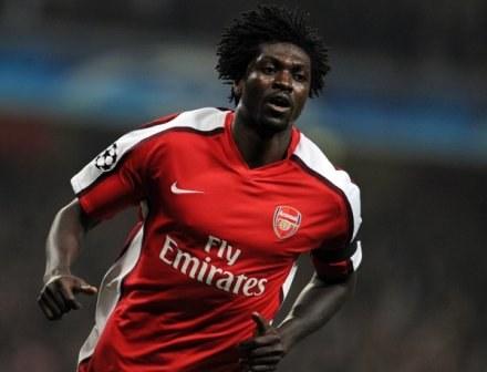 """Adebayor mocno wierzy w siłę Arsenalu. Ciekawe, czy za rok będzie wciąż piłkarzem """"Kanonierów""""? /AFP"""