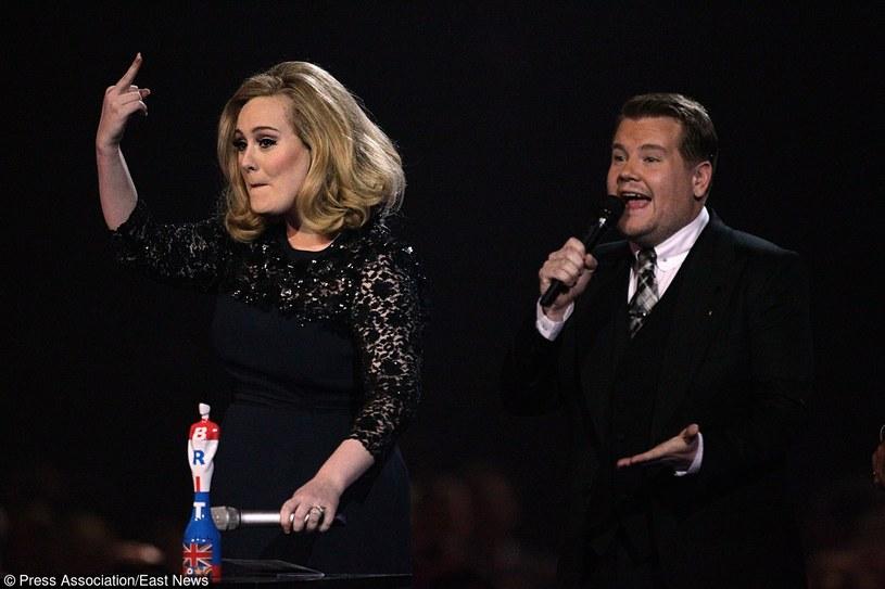 Adele i James Corden na Brit Awards 2012 /PRESS ASSOCIATION/Yui Mok /East News