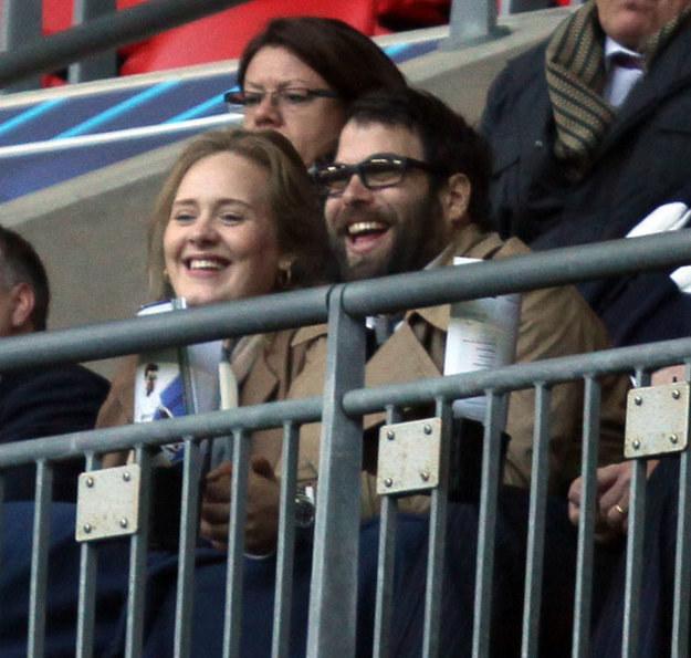 Adele i Simon /Splashnews
