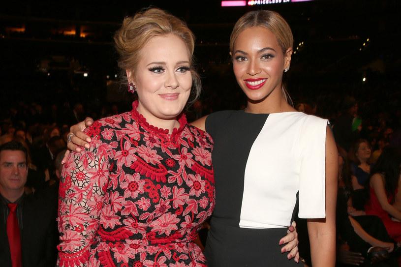 Adele już nie przypomina samej siebie sprzed lat - tu zdjęcie z Beyonce podczas rozdania nagród Garmmy w 2013 roku /Christopher Polk /Getty Images