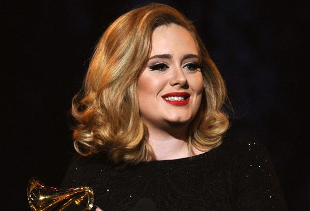 Adele podczas gali rozdania nagród Grammy - fot. Kevin Winter /Getty Images/Flash Press Media
