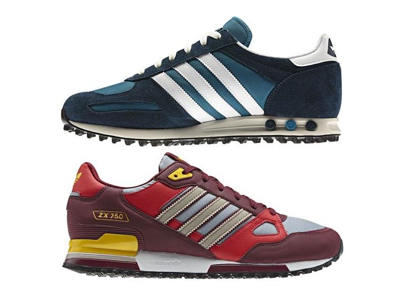 Adidas L.A. Trainer (góra) i ZX750 z kolekcji Wiosna/Lato 2013 /materiały prasowe