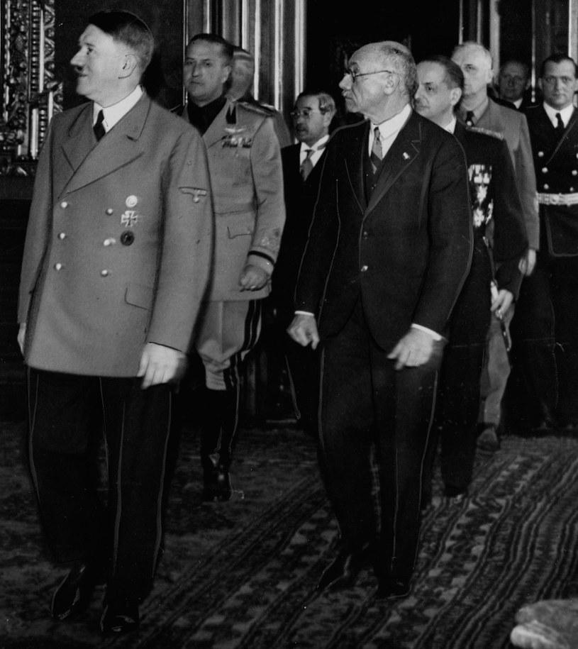 Adolf Hitler i Pal Teleki. Zdjęcie z 1940 roku /Z archiwum Narodowego Archiwum Cyfrowego