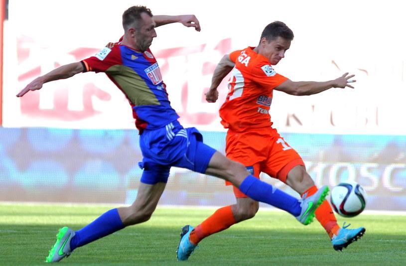 Adrian Klepczyński (z lewej) i Dawid Plizga (z prawej) /Andrzej Grygiel /PAP