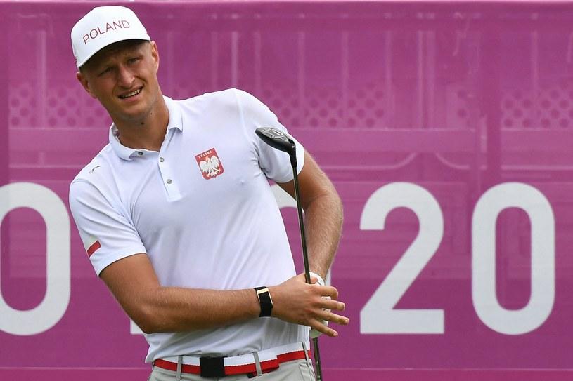 Adrian Meronk zadebiutował w golfie na igrzyskach /AFP