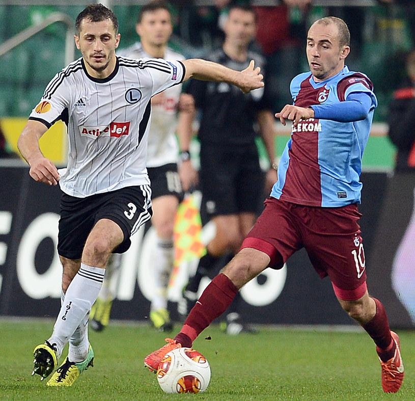 Adrian Mierzejewski w meczu Ligi Europejskiej z Legią /AFP