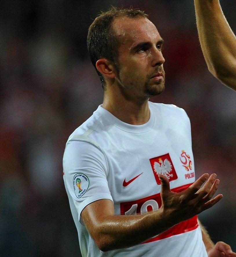 Adrian Mierzejewski w reprezentacji Polski. /AFP