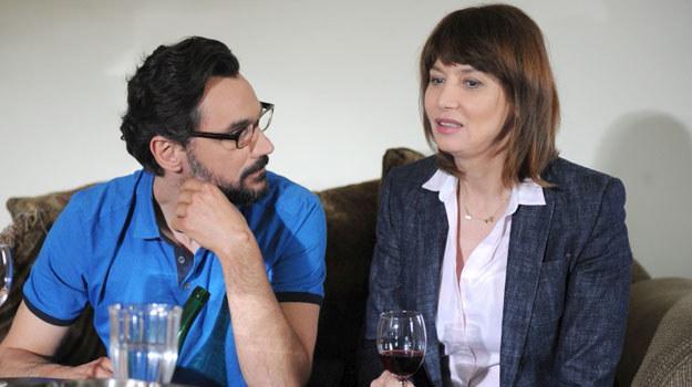 Adrian (Piotr Jankowski) i Basia (Grażyna Wolszczak) /Agencja W. Impact