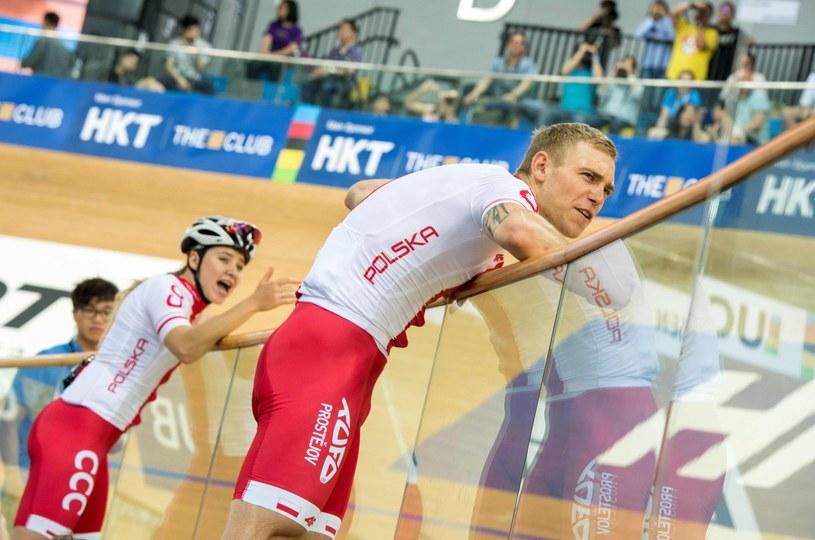 Adrian Tekliński (na pierwszym planie) /AFP