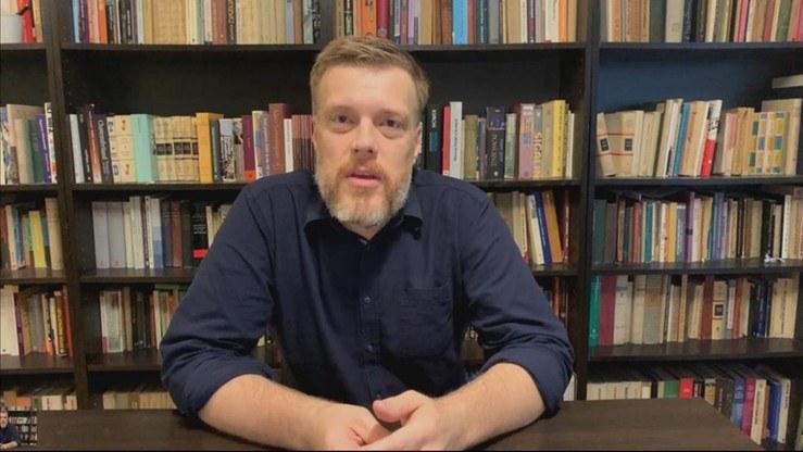"""Adrian Zandberg w programie Polsat News """"Graffiti"""" /Polsat News"""
