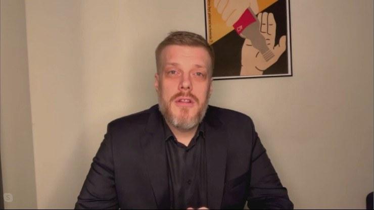 """Adrian Zandberg w programie Polsat News """"Graffiti"""" /Polsat"""