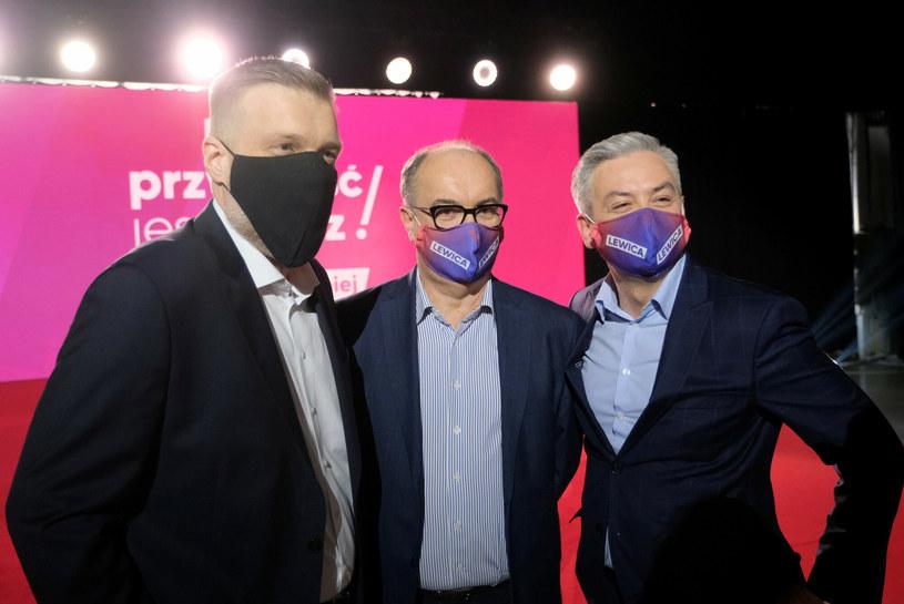 Adrian Zandberg, Włodzimierz Czarzasty i Robert Biedroń /Mateusz Grochocki /East News