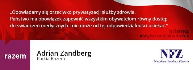 Adrian Zandberg /INTERIA.PL