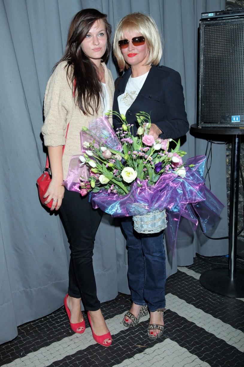 Adrianna Biedrzyńska z córką Michaliną /MWMedia