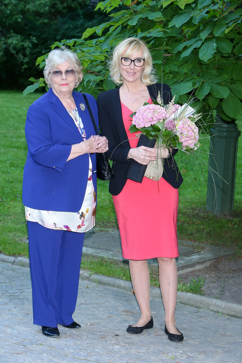 Adrianna Godlewska z córką Agatą Młynarską /Tomasz Zukowski /East News