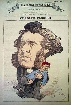 Adwokat Charles Floquet, obrońca Polski (rys. Andre Gill) /archiwum autora
