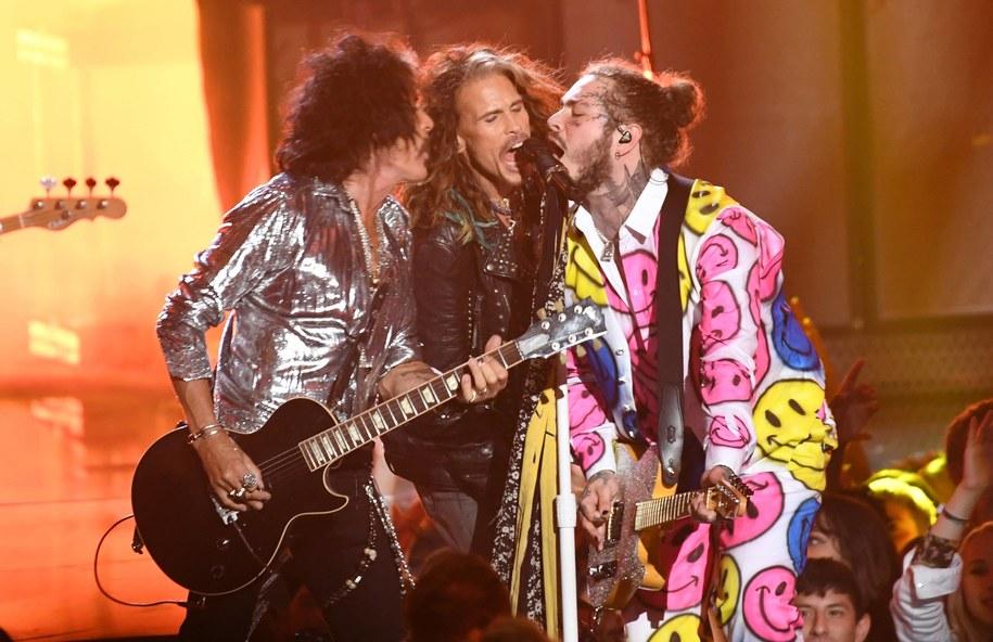 Aerosmith na scenie na zdjęciu z 2018 roku /foto. PA /PAP/EPA