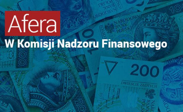 Afera w Komisji Nadzoru Finansowego