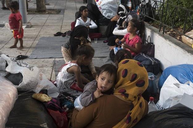 Afgańscy uchodźcy po przyjeździe na wyspę Lesbos /Abaca /PAP/EPA