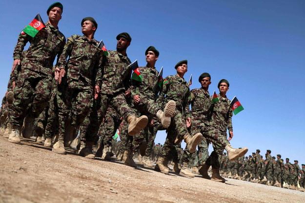 Afgańscy żołnierze /JALIL REZAYEE    /PAP/EPA
