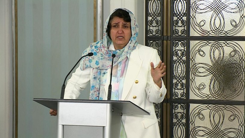 Afgańska parlamentarzystka Rahima Jami. /Polsat News