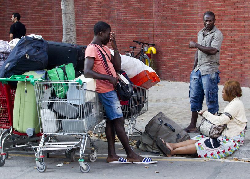 Afrykańscy imigranci w Barcelonie /AFP