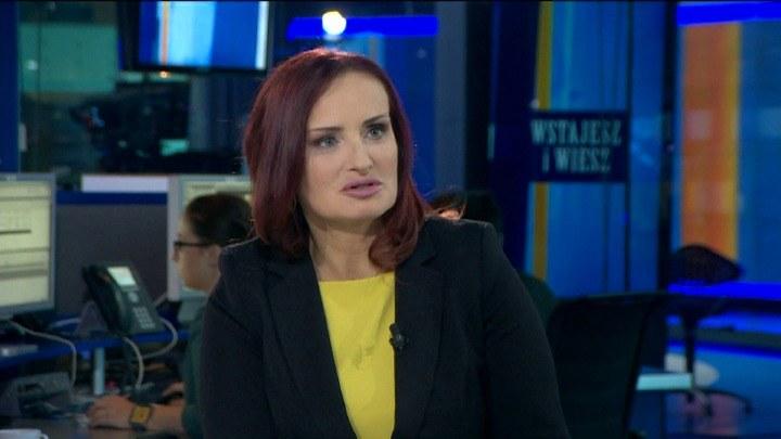 """Agata Baraniecka-Kłos, ofiara pedofila i prezes fundacji """"Stop Przedawnieniu"""". /TVN24/x-news"""