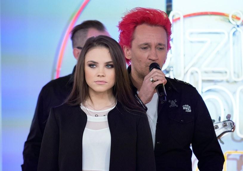 Agata Buczkowska i Michał Wiśniewski /Bartosz Krupa/Dzień Dobry TVN /East News