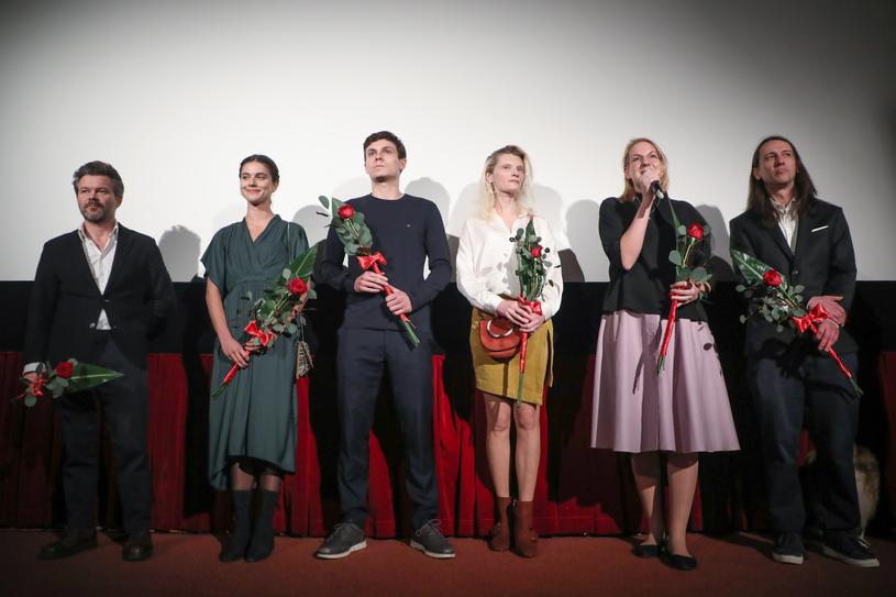 Agata Buzek i twórcy filmu /Damian Klamka /East News