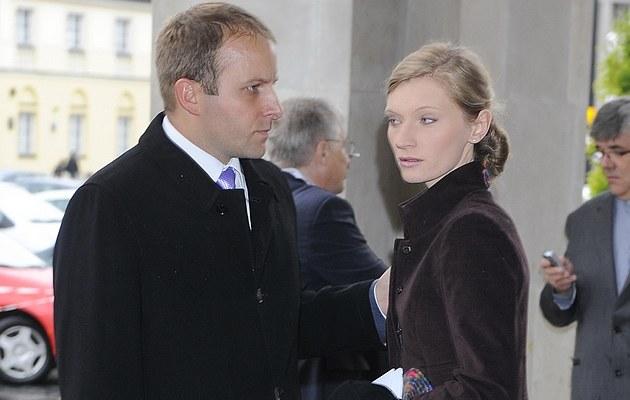 Agata Buzek z mężem /- /MWMedia