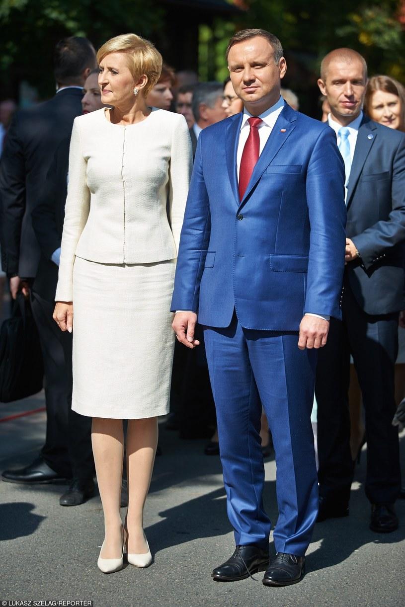 Agata Duda i Andrzej Duda /- /East News