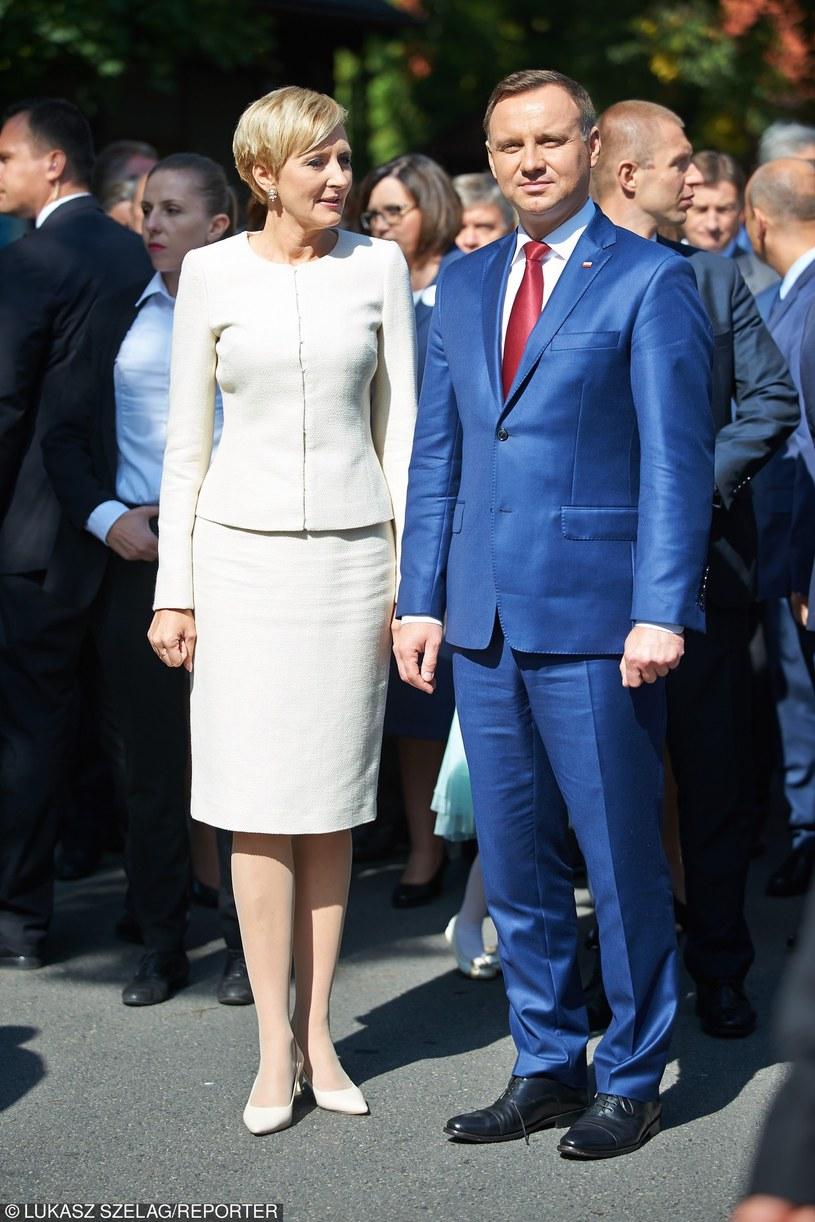 Agata Duda i Andrzej Duda /Łukasz Szeląg /Reporter