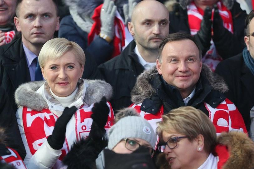 Agata Duda i Andrzej Duda /Andrzej Iwańczuk /Reporter