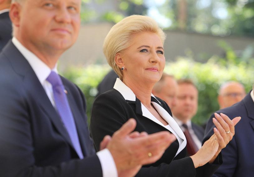Agata Duda i Andrzej Duda /Fot. Tomasz Jastrzębowski/REPORTER /Reporter